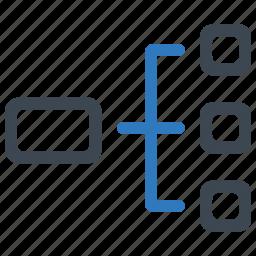 diagram, plan, structure, workflow icon