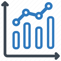 analytics, chart, graph, sales report icon
