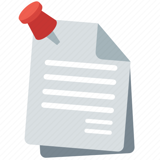 archive, article, news, note, paper, pin, sheet icon