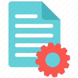 document, edit, file, manage, paper, process, setting icon
