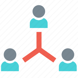 chart, clients, flowchart, group, link, manage, user icon