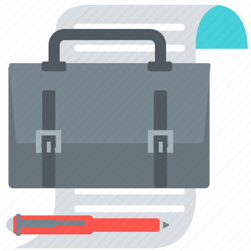 business, file, list, office, paper, report, study icon