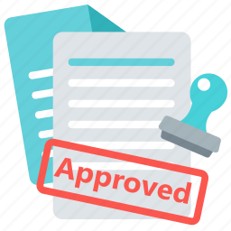 agreement, approved, business, contract, paper, sign icon