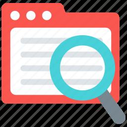 archive, data, document, file, folder, search icon