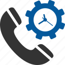 call, duration, history, management, setting, timing, timings icon
