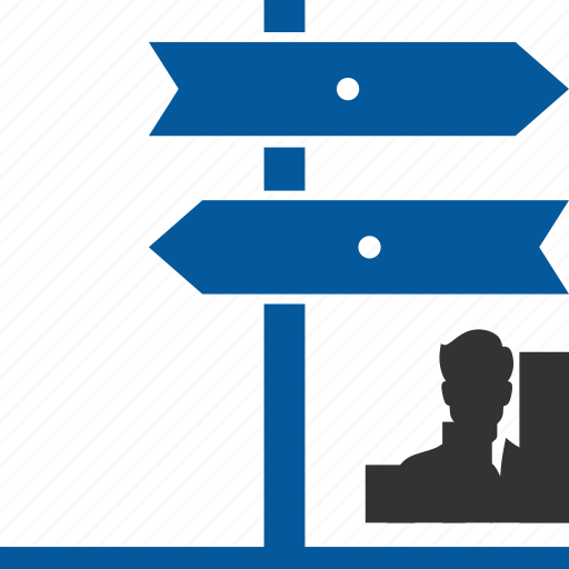 career, chance, direction, move, opportunity, path icon