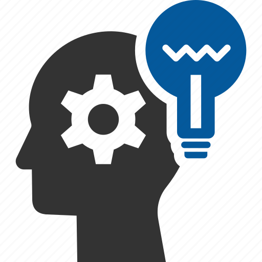 creative, creativity, head, mind, think, thinking icon