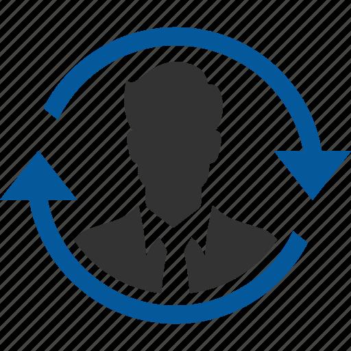 custody, customer, maintenance, prevention, retention icon