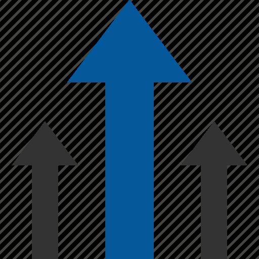 advantage, benefit, direct, gain, improvement, lead icon