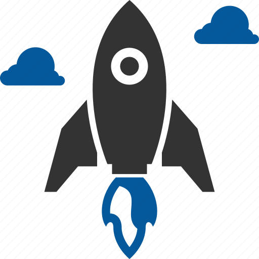 boost, business, increase, launch, missile, startup icon