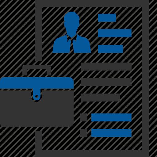 Portfolio, agenda, business, meeting, memo, plan, profile icon - Download on Iconfinder