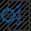 control, item, items, list, quality, tickmark icon