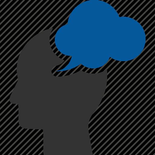 brain, mindset, power, storm, storming, thinking icon