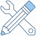 business, finance, pencil, skills, tools icon