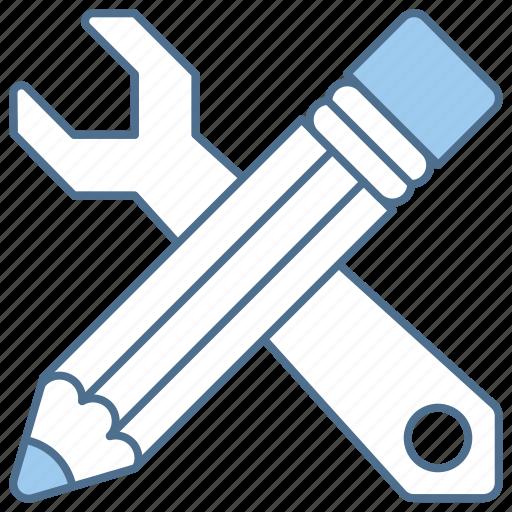 business, finance, pencil, skills, tools icon