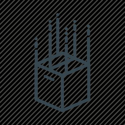 box, business, drop, fall, logistics icon