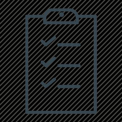 checklist, clipboard, file, ok icon
