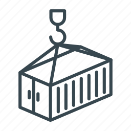 business, cargo, container, delivery, hook, logistics, shipping icon