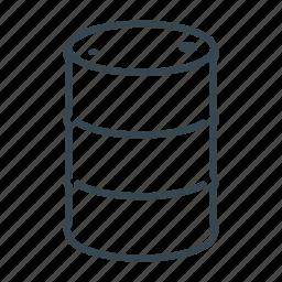 barrel, business, cargo, container, drum, logistics icon