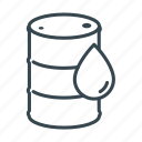 barrel, business, cargo, container, drum, logistics icon