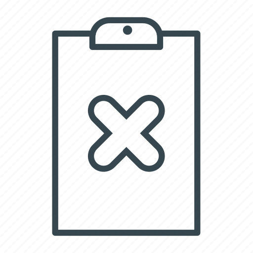 clipboard, file, no, wrong icon