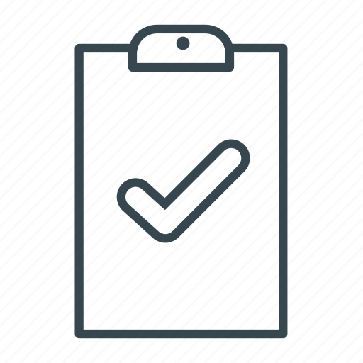 approved, checklist, clipboard, file, ok icon