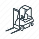 business, cargo, container, delivery, forklift, logistics icon