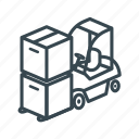 box, business, cargo, container, delivery, forklift, logistics icon