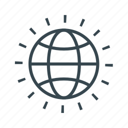 business, export, globe, import icon