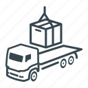 box, cargo, container, delivery, intermodal, logistics, lorry icon