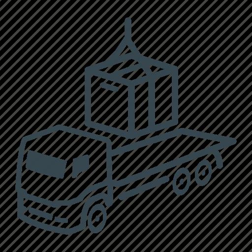 box, cargo, container, delivery, intermodal, logistics, lorry icon
