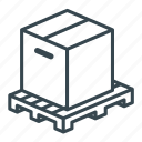 box, business, crate, logistics, pallet, storage, wooden icon