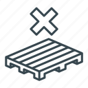 business, crate, logistics, no, pallet, storage, wooden icon
