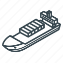 business, cargo, container, delivery, logistics, ship, shipping icon