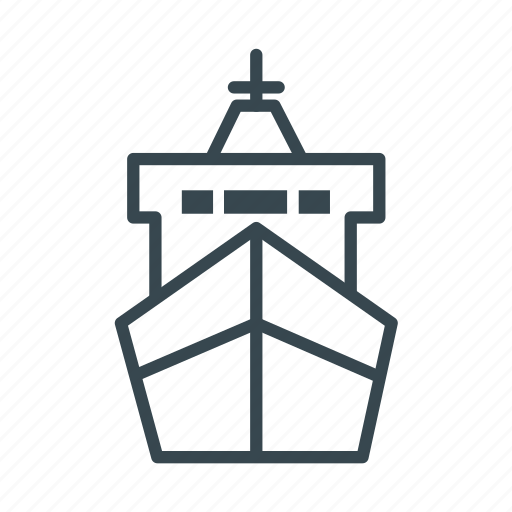 cargo, container, delivery, logistic, port, ship icon
