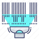 barcode, product, scanner icon
