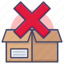 empty, of, out, product, sold, stock icon