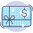 card, certificate, coupon, gift icon