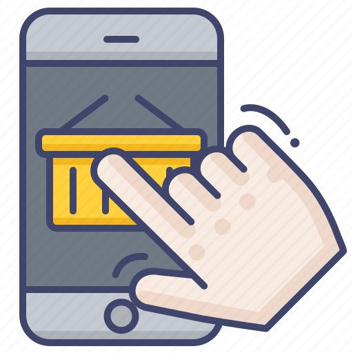 ecommerce, mobile, shopping icon