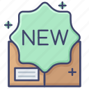 arrival, new, product icon