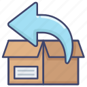 package, purchase, return, shipping icon