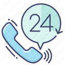 all, custom, service, support, time icon