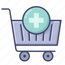 add, cart, new, shopping icon