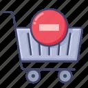 cart, delete, remove, shopping icon