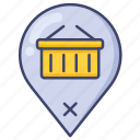 location, market, shopping, store icon