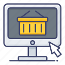 ecommerce, online, shopping, store icon