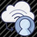 cloud, online, scyn, user icon