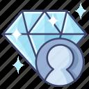 diamond, premium, user, vip icon