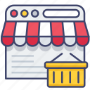 browser, ecommerce, online, store icon