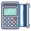 card, credit, machine, payment, pos icon